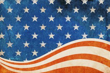 Grunge patriotic flag background.