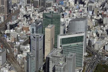 Aerial view of Minato-ku