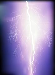 bright lightning on dark sky background