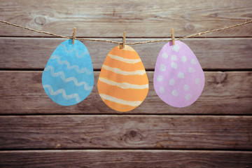 Easter figured paper eggs