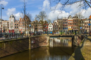 Amsterdam, The Netherlands . Typical urban view