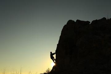 Wall Mural - tırmanış güneş doğarken