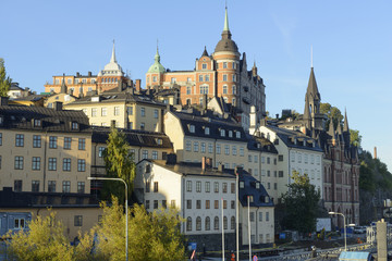 Buildings on Mariaberget, Sodermalm, Stockholm