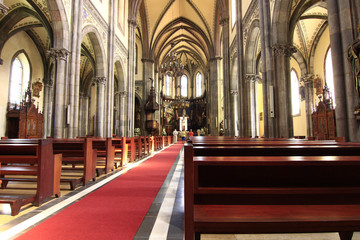 Interior of the Cathedral of Aviles in Asturias, Spain