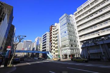 Cityscape around Sotobori dori streetm Nishi-Shimbashi 1-chome