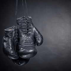Wall Mural - old boxing gloves