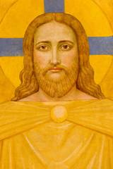 Vienna - Jesus Christ fresco in Carmelites church