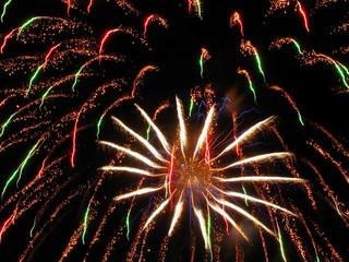 gala fireworks at night