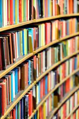 Public library bookshelf