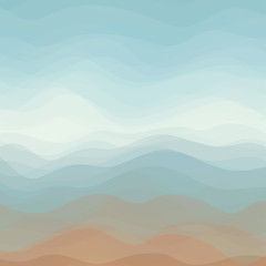 Abstract Vector Color Wavy Background
