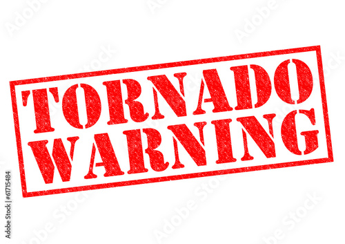 It is recommended that people in the path of a large and violent tornado whether referenced in a tornado warning or a tornado emergency seek shelter in a basement