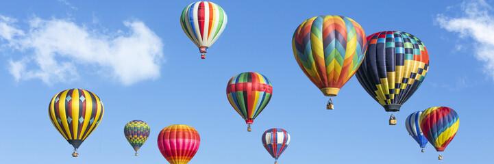 Garden Poster Balloon Colorful hot air balloons