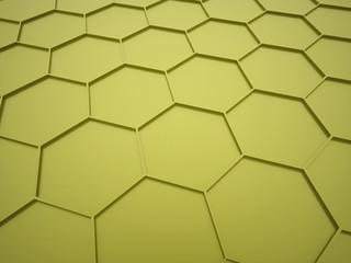 Green hexagonal mesh concept