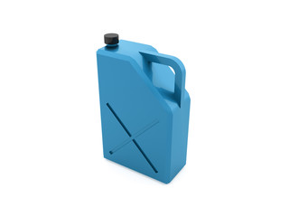Blue fuel bottle rendered isolated