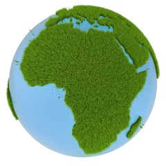 Africa on green planet