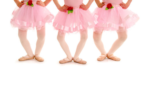 Children Legs in Ballet Plie