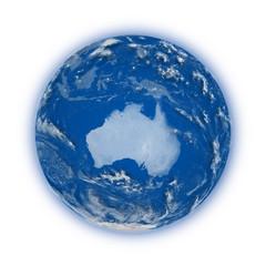 Australia on planet Earth