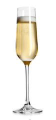 Glass of champagne, isolated on white