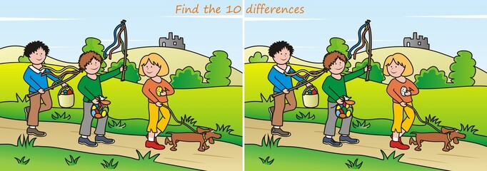Easter - find 10 differences