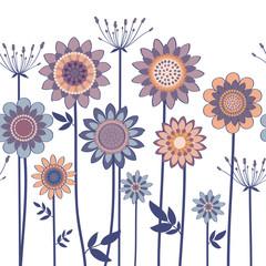 vector decorative flowers