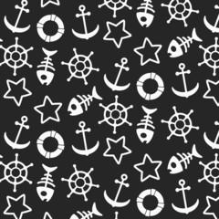 Vector seamless oceanic pattern. Modern stylish texture.