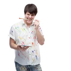 happy painter