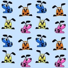 seamless dog pattern background
