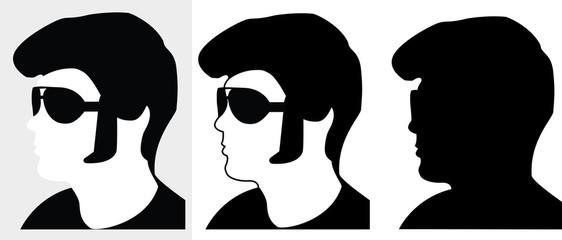 Elvis Kopf-Silhouette