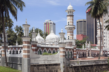 Canvas Prints Kuala Lumpur Jamek Mosque in Kuala Lumpur Closeup