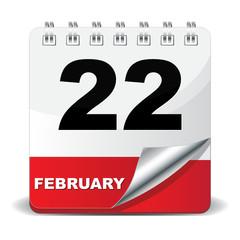 22 FEBRUARY ICON