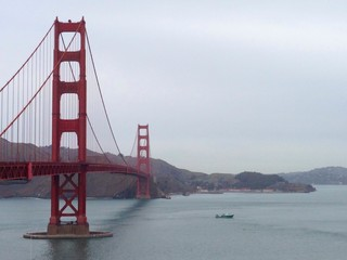 golden gate in a cloudy day