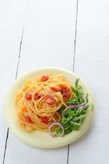 Spaghetti marinara pasta dish