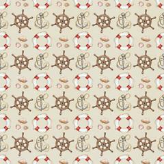 Seamless nautical pattern