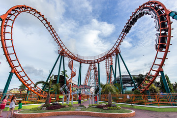 Siam Park, Thailand ,Roller coaster at fun park