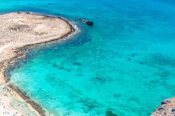 Gramvousa island near Crete, Greece. Balos beach