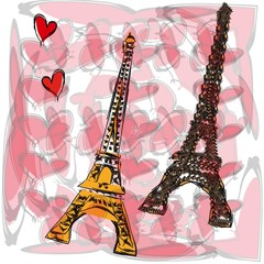 Two Eiffel Tower