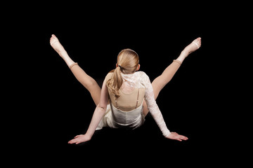 young girl dance back