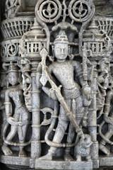 India, stone work detail Jain temple