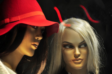 Devil girl, woman gossip
