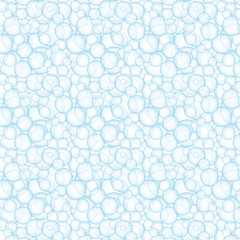 Tiny blue bubbles seamless pattern