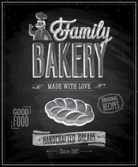 Wall Mural - Vintage Bakery Poster