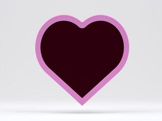 pink blank board in shape of heart