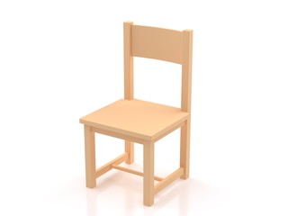 3d chair isolate on white