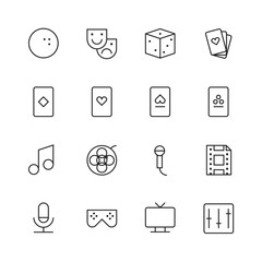 Thin Line Icons For Leisure