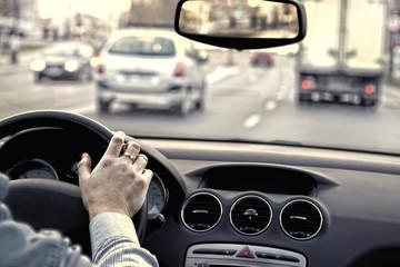 Fototapete - Traffic in the city