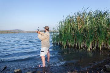 Fishing Bass Dam Waters