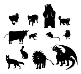 animals icon silhouette