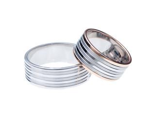 White Background Wedding Rings