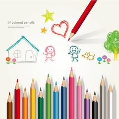 色鉛筆・お絵描き