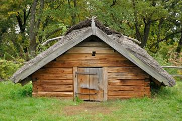 Ancient wooden ukrainian house